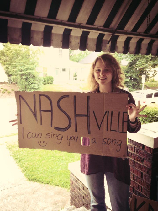 I-Sha-Vii hitch hiking from Knoxville to Nashville