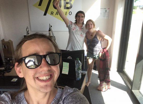 Nina Ann, John and Pete on the Hub radio