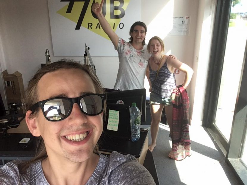 Nina Ann, John and Pete on the Hub radio